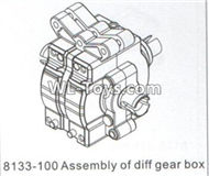 DHK RAZ-R Parts-Assembly of diff gear box Parts-8133-100,DHK RAZ-R Parts,DHK Wolf Parts,DHK HOBBY 8133 8134 Parts