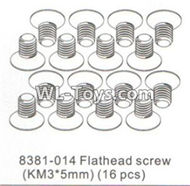 DHK RAZ-R Parts-Flathead screw(KM3x5mm)-16pcs Parts-8381-014,DHK RAZ-R Parts,DHK Wolf Parts,DHK HOBBY 8133 8134 Parts