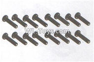 DHK RAZ-R Parts-B head screws-Coarse thread(BB3x16mm)-16pcs Parts-8381-119,DHK RAZ-R Parts,DHK Wolf Parts,DHK HOBBY 8133 8134 Parts