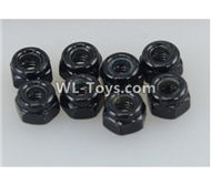 DHK RAZ-R Parts-M3 Nylon Nut(8pcs) Parts-8381-306,DHK RAZ-R Parts,DHK Wolf Parts,DHK HOBBY 8133 8134 Parts