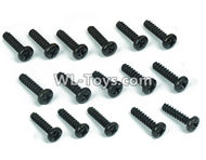 DHK RAZ-R Parts-B Head screw-Coarse thread(BB3X12mm)-16pcs Parts-8381-605,DHK RAZ-R Parts,DHK Wolf Parts,DHK HOBBY 8133 8134 Parts