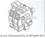 DHK Hunter Parts-Assembly of diff gear box Parts-8133-100,DHK Hunter 8135 Parts,DHK Hunter Parts-4x4 Parts,DHK Hobby 8135 Parts