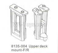 DHK Hunter Parts-Upper deck mount-Frong and Rear Parts-8135-004,DHK Hunter 8135 Parts,DHK Hunter Parts-4x4 Parts,DHK Hobby 8135 Parts