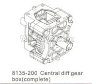 DHK Hunter Parts-Central diff gear box(Complete) Parts-8135-200,DHK Hunter 8135 Parts,DHK Hunter Parts-4x4 Parts,DHK Hobby 8135 Parts