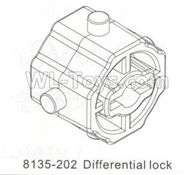 DHK Hunter Parts-Differential lock Parts-8135-202,DHK Hunter 8135 Parts,DHK Hunter Parts-4x4 Parts,DHK Hobby 8135 Parts