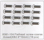 DHK Hunter Parts-Flathead Screw-Coarse thread(KB2.6X10mm)-16pcs Parts-8381-104,DHK Hunter 8135 Parts,DHK Hunter Parts-4x4 Parts,DHK Hobby 8135 Parts