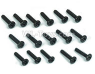 DHK Hunter Parts-B Head screw-Coarse thread(BB3X12mm)-16pcs Parts-8381-605,DHK Hunter 8135 Parts,DHK Hunter Parts-4x4 Parts,DHK Hobby 8135 Parts