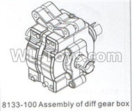 DHK CrosseAssembly of diff gear box Parts-8133-100 ,DHK Crosse 8136 RC Car Parts,DHK Hobby Crosse 8136 Parts