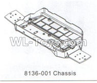 DHK Crosse Parts-Chassis Parts-8136-001,DHK Crosse 8136 RC Car Parts,DHK Hobby Crosse 8136 Parts