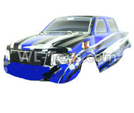 DHK Crosse Parts-Printed truck body(pvc),DHK 8136 rc car shell-Blue Parts-8136-007 008 ,DHK Crosse 8136 RC Car Parts,DHK Hobby Crosse 8136 Parts