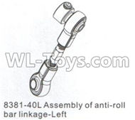 DHK Crosse Parts-Assembly of anti-roll bar linkage-Left Parts-8381-40L,DHK Crosse 8136 RC Car Parts,DHK Hobby Crosse 8136 Parts