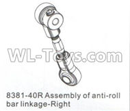 DHK Crosse Parts-Assembly of anti-roll bat linkage-Right Parts-8381-40R,DHK Crosse 8136 RC Car Parts,DHK Hobby Crosse 8136 Parts