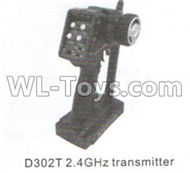 DHK Crosse2.4GHZ Transmitter Parts-D302T ,DHK Crosse 8136 RC Car Parts,DHK Hobby Crosse 8136 Parts