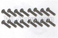 DHK Maximus Parts-B head screws-Coarse thread(BB3x16mm)-16pcs Parts-8381-119,DHK Hobby Maximus 8382 Parts,DHK 8382 RC Truck Parts