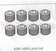 DHK Maximus Parts-Lock nut,Jimi Maching screws,set screws(M3x3mm)-8pcs Parts-8381-404,DHK Hobby Maximus 8382 Parts,DHK 8382 RC Truck Parts