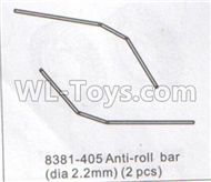 DHK Maximus Parts-Anti-Roll Bar(Dia 2.2mm)-2pcs Parts-8381-405,DHK Hobby Maximus 8382 Parts,DHK 8382 RC Truck Parts