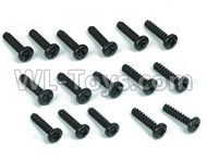 DHK Maximus Parts-B Head screw-Coarse thread(BB3X12mm)-16pcs Parts-8381-605,DHK Hobby Maximus 8382 Parts,DHK 8382 RC Truck Parts