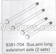 DHK Maximus Parts-Sus.arm long axle and Short axle(2 sets) Parts-8381-704,DHK Hobby Maximus 8382 Parts,DHK 8382 RC Truck Parts