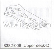 DHK Maximus Parts-Upper deck-D Parts-8382-008,DHK Hobby Maximus 8382 Parts,DHK 8382 RC Truck Parts