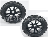 DHK Maximus Tire Complete(2pcs)-17MM Adapter Parts-8382-704-01,DHK Hobby Maximus 8382 Parts,DHK 8382 RC Truck Parts