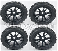 DHK Maximus Tire Complete Parts(4pcs)-17MM Adapter Parts-8382-704-02,DHK Hobby Maximus 8382 Parts,DHK 8382 RC Truck Parts