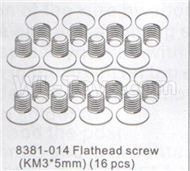DHK Zombie 8384 Parts-Flathead screw(KM3x5mm)-16pcs Parts-8381-014,DHK Hobby Zombie 8E 8384 RC Truck Parts