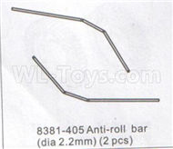 DHK Zombie 8384 Parts-Anti-Roll Bar(Dia 2.2mm)-2pcs Parts-8381-405,DHK Hobby Zombie 8E 8384 RC Truck Parts