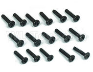 DHK Zombie 8384 Parts-B Head screw-Coarse thread(BB3X12mm)-16pcs Parts-8381-605,DHK Hobby Zombie 8E 8384 RC Truck Parts