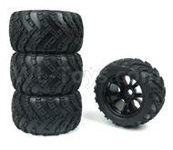DHK Zombie 8384 Parts-Tyre complete(4 set)-17mm Combiner Parts-8384-001-01,DHK Hobby Zombie 8E 8384 RC Truck Parts