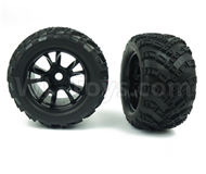 DHK Zombie 8384 Parts-Tyre complete(2 set)-17mm Combiner Parts-8384-001-02,DHK Hobby Zombie 8E 8384 RC Truck Parts