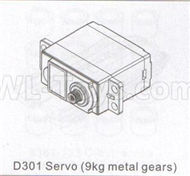 DHK Zombie 8384 Parts-D301 Servo(9KG Metal gears) Parts,DHK Hobby Zombie 8E 8384 RC Truck Parts