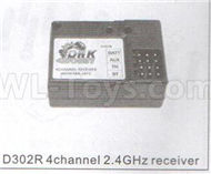 DHK Zombie 8384 Parts-D302R 4 Channel 2.4GHZ receiver Parts,DHK Hobby Zombie 8E 8384 RC Truck Parts