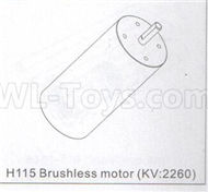 DHK Zombie 8384 Parts-Brushless Motor(KV2260) Parts-H115,DHK Hobby Zombie 8E 8384 RC Truck Parts