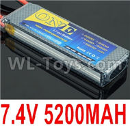 DHK Zombie 8384 Battery Parts-7.4V 5200MAH Battery(1pcs)-2S Battery Parts,DHK Hobby Zombie 8E 8384 RC Truck Parts