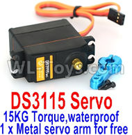 DHK Zombie 8384 Servo Parts-Servo-15KG Torque(1 x Metal servo arm for free)-waterproof Parts-DS3115,DHK Hobby Zombie 8E 8384 RC Truck Parts
