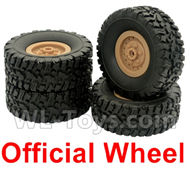 Fayee FY001 Parts-02 Official Whole wheel unit(4 set)-Khaki,FAYEE FY001 RC Car Parts,FY001 RC Military Truck Spare parts Accessories,M35-A2 1:16 4WD High Speed Buggy Parts
