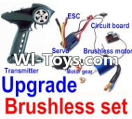 FeiYue FY-01 Spare Parts-25-05 Upgrade Brushless set(Include the Transmitter,Brushless motor,ESC,Servo,Motor gear,Circuit board),FeiYue FY-01 RC Car Parts,FY01 FY-01 RC Truck Spare parts Accessories,1:12 4WD High Speed Buggy Parts