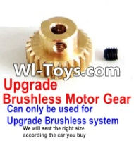 FeiYue FY-01 Spare Parts-25-08 Upgrade Motor gear(Can only be used for Upgrade Brushless set,We will according the car you buy to sent you the right version size),FeiYue FY-01 RC Car Parts,FY01 FY-01 RC Truck Spare parts Accessories,1:12 4WD High Speed Bu