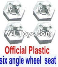 FeiYue FY-01 Spare Parts-28-01 W12006 Hexagonal wheel seat(4pcs),FeiYue FY-01 RC Car Parts,FY01 FY-01 RC Truck Spare parts Accessories,1:12 4WD High Speed Buggy Parts