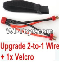 FeiYue FY-01 Spare Parts-35-05 Upgrade 2-to-1 wire and Velcro-Two battery can use together,Run 2x Time than usual,FeiYue FY-01 RC Car Parts,FY01 FY-01 RC Truck Spare parts Accessories,1:12 4WD High Speed Buggy Parts