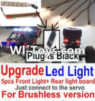 FeiYue FY-01 Spare Parts-42-06 Upgrade Front and Rear light assembly-Can only be used for Upgrade Brushless version,Plug is Black,FeiYue FY-01 RC Car Parts,FY01 FY-01 RC Truck Spare parts Accessories,1:12 4WD High Speed Buggy Parts