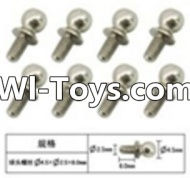 FeiYue FY-01 Spare Parts-60-15 W12057 Inner Hexagon Ball head screws(8pcs)-2.5X4.8X6mm,FeiYue FY-01 RC Car Parts,FY01 FY-01 RC Truck Spare parts Accessories,1:12 4WD High Speed Buggy Parts