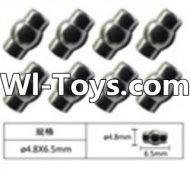 FeiYue FY-01 Spare Parts-63-02 W12055 Ball head sleeve(8pcs)-4.8X6.5mm,FeiYue FY-01 RC Car Parts,FY01 FY-01 RC Truck Spare parts Accessories,1:12 4WD High Speed Buggy Parts