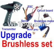 FeiYue FY-02 Spare Parts-25-05 Upgrade Brushless set(Include the Transmitter,Brushless motor,ESC,Servo,Motor gear,Circuit board),FeiYue FY-02 RC Car Parts,FY02 FY-02 RC Truck Spare parts Accessories,1:12 4WD High Speed Buggy Parts