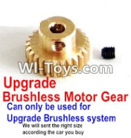 FeiYue FY-02 Spare Parts-25-08 Upgrade Motor gear(Can only be used for Upgrade Brushless set,We will according the car you buy to sent you the right version size),FeiYue FY-02 RC Car Parts,FY02 FY-02 RC Truck Spare parts Accessories,1:12 4WD High Speed Bu