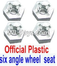FeiYue FY-02 Spare Parts-28-01 W12006 Hexagonal wheel seat(4pcs),FeiYue FY-02 RC Car Parts,FY02 FY-02 RC Truck Spare parts Accessories,1:12 4WD High Speed Buggy Parts
