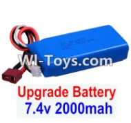 FeiYue FY-02 Spare Parts-35-03 Upgrade 7.4V 2000mah Battery(1pcs)-Size-80X35X19MM,FeiYue FY-02 RC Car Parts,FY02 FY-02 RC Truck Spare parts Accessories,1:12 4WD High Speed Buggy Parts