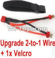 FeiYue FY-02 Spare Parts-35-05 Upgrade 2-to-1 wire and Velcro-Two battery can use together,Run 2x Time than usual,FeiYue FY-02 RC Car Parts,FY02 FY-02 RC Truck Spare parts Accessories,1:12 4WD High Speed Buggy Parts
