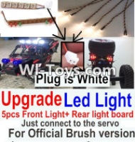 FeiYue FY-02 Spare Parts-42-05 Upgrade Front and Rear light assembly-Can only be used for Official Brush version,Plug is white color,FeiYue FY-02 RC Car Parts,FY02 FY-02 RC Truck Spare parts Accessories,1:12 4WD High Speed Buggy Parts
