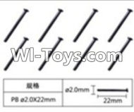 FeiYue FY-02 Spare Parts-60-18 W12066 Cross head flat tail screws(8pcs)-2.0X22mm,FeiYue FY-02 RC Car Parts,FY02 FY-02 RC Truck Spare parts Accessories,1:12 4WD High Speed Buggy Parts